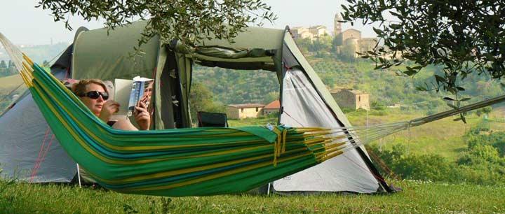 kamperen kleine camping Villa Bussola