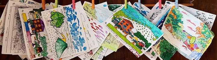 Kinderen bij agriturismo en minicamping Villa Bussola